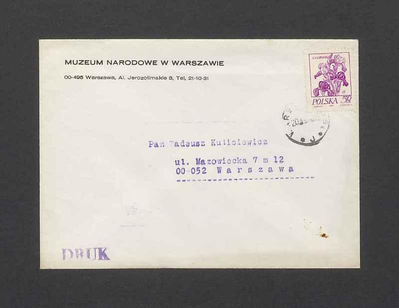 Koperta, nad. Muzeum Narodowe w Warszawie