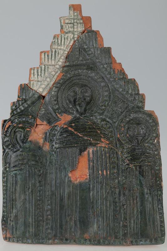 Kafel z wyobrażeniem trzech świętych