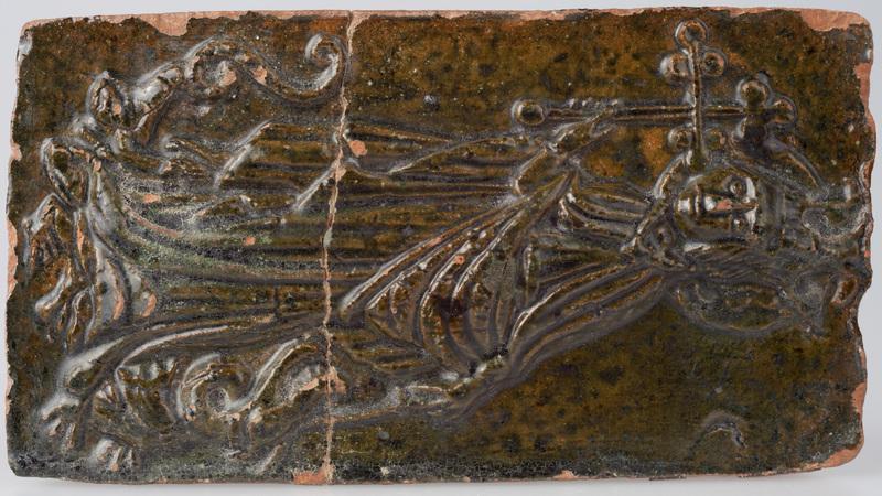 Kafel z wyobrażeniem św. Małgorzaty Antiocheńskiej