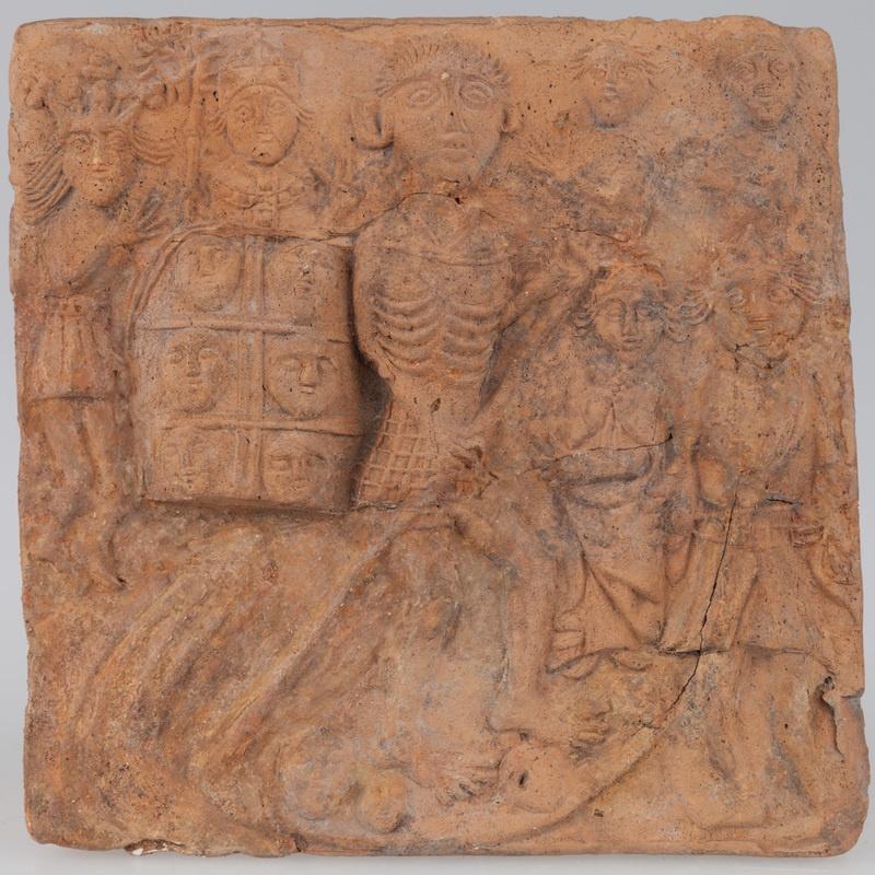 Kafel z wizerunkiem triumfu śmierci
