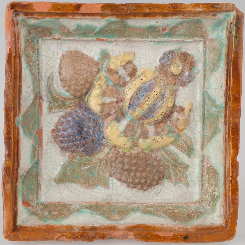Kafel z pąkiem kwiatowym