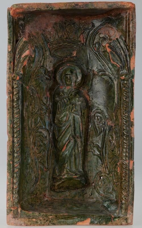 Kafel z wizerunkiem Najświętszej Maryi Panny