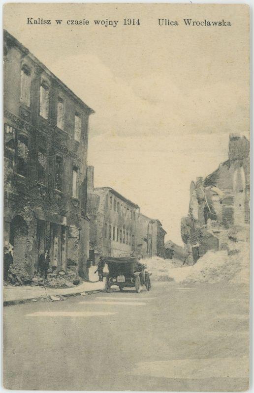 Kalisz w czasie wojny 1914 Ulica Wrocławska