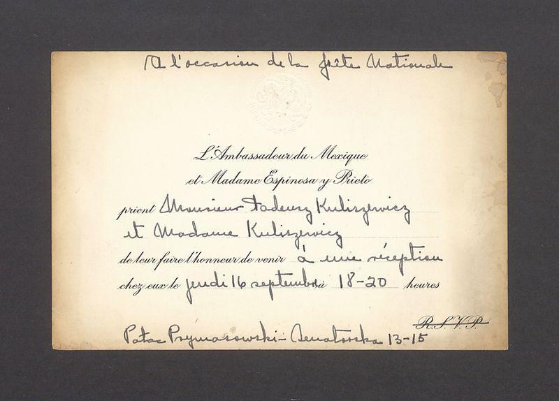 L'Ambassadeur du Mexique et Madame Espinosa y Rieto prient [...]