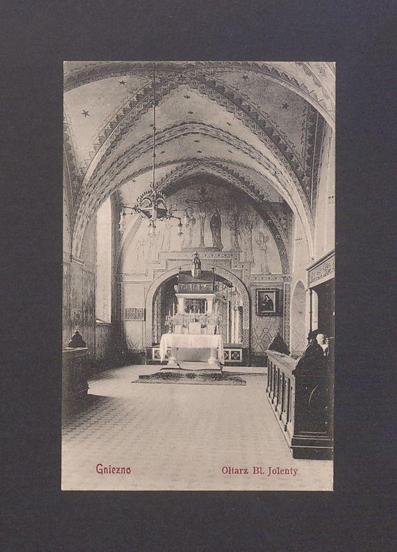 Ołtarz bł. Jolenty w kościele franciszkanów w Gnieźnie.