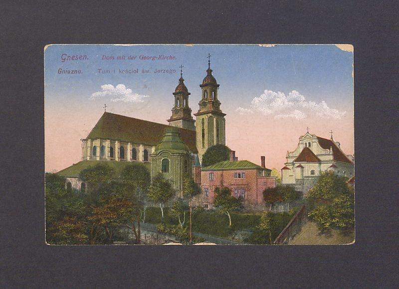 Ul. Tumska i kościół pw. św. Jerzego z katedrą.