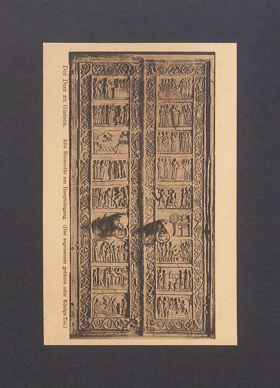 Drzwi brązowe w katedrze gnieźnieńskiej.