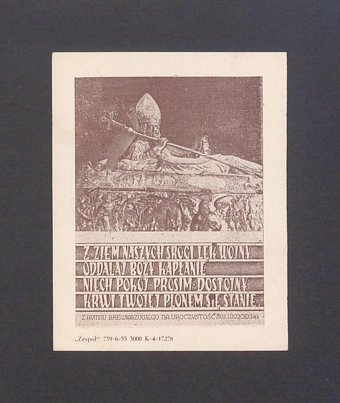 Fragment trumienki św. Wojciecha z katedry gnieźnieńskiej.
