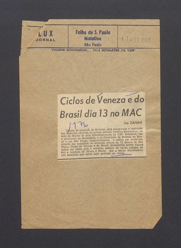 Ciclos de Veneza e do Brasil [...]
