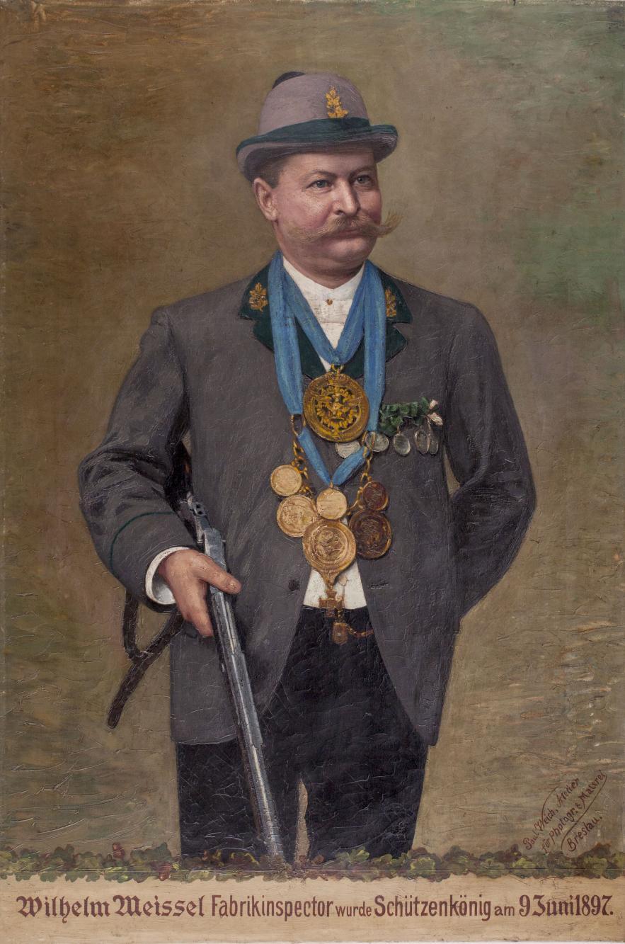 Portret króla kurkowego Wilhelma Meissela
