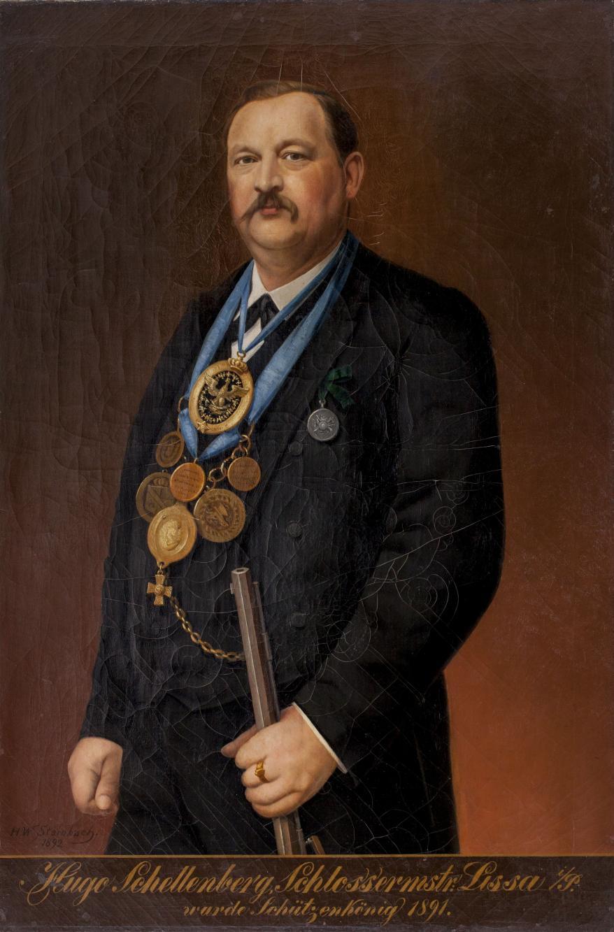 Portret króla kurkowego Hugo Schellenberga