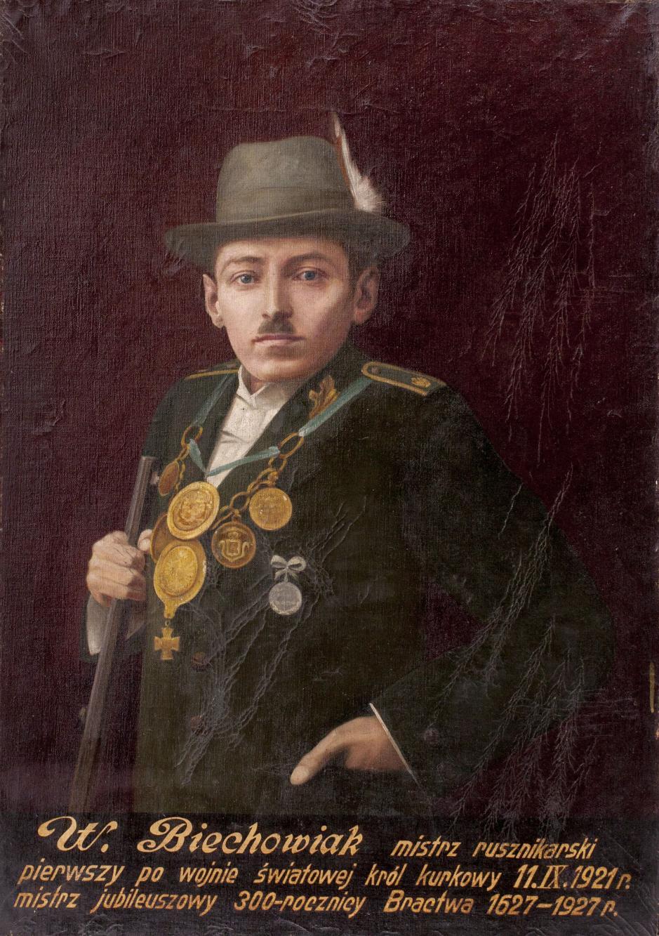 Portret króla kurkowego Walentego Biechowiaka