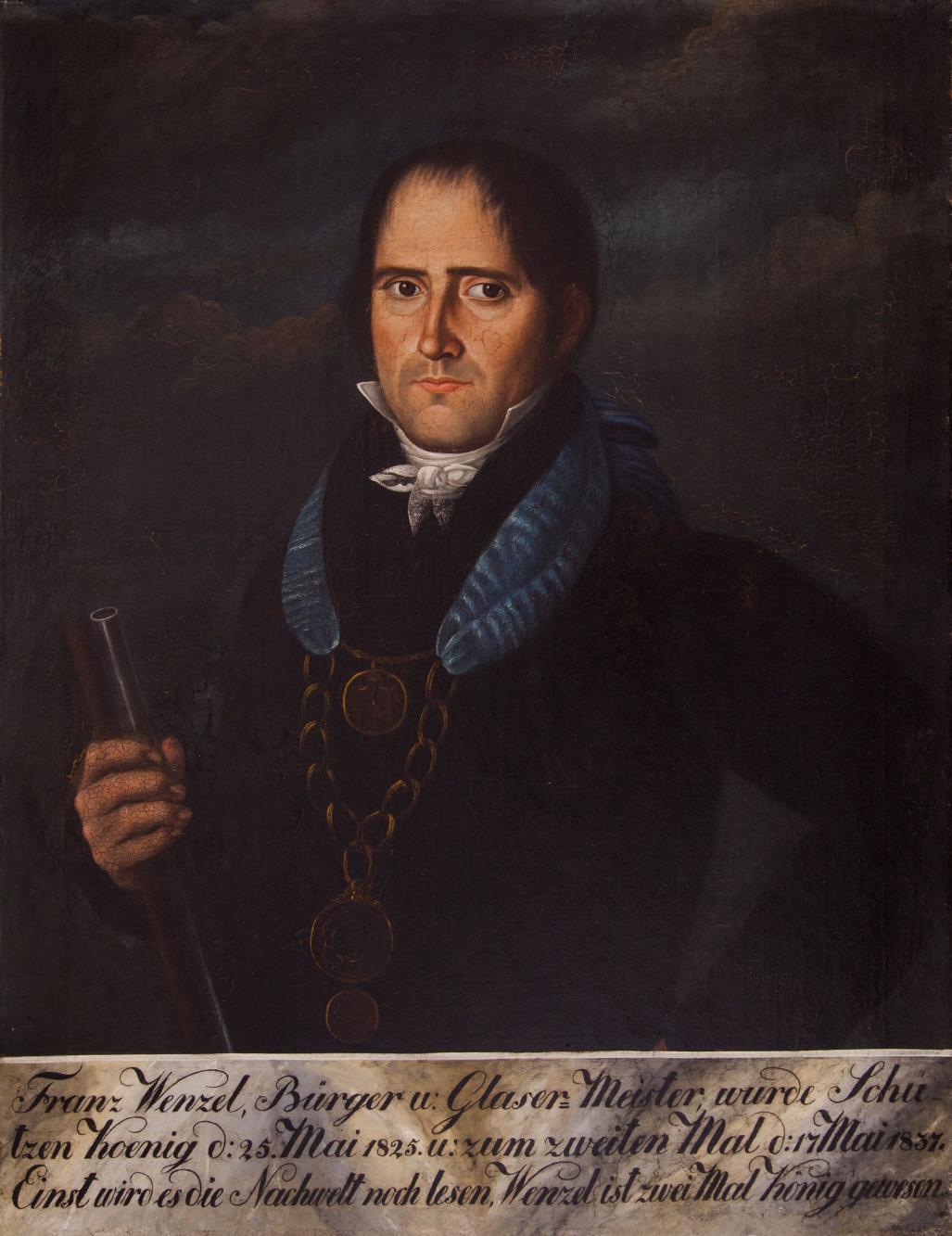 Portret króla kurkowego Franza Wenzela