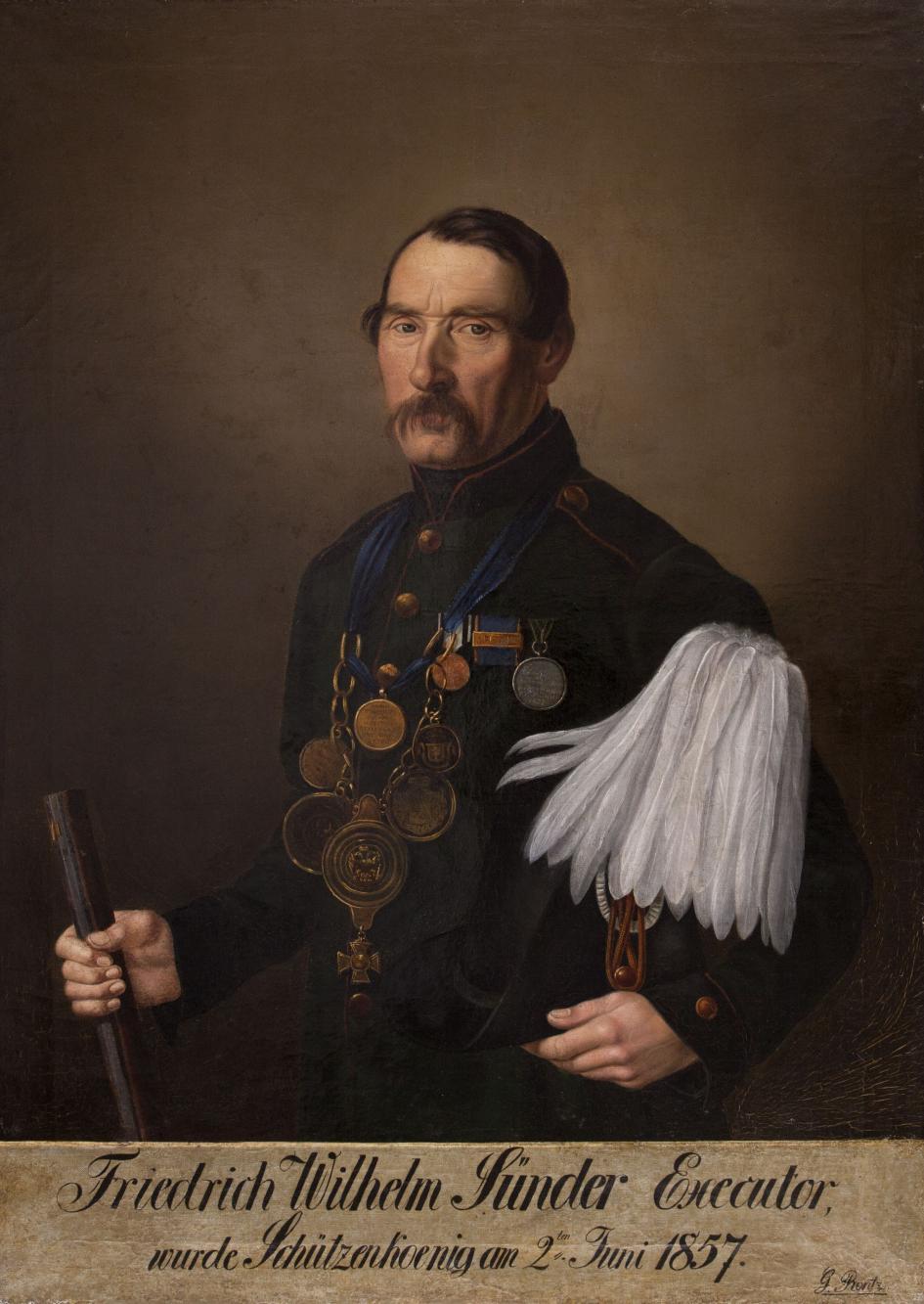 Portret króla kurkowego Friedricha Wilhelma Sünder