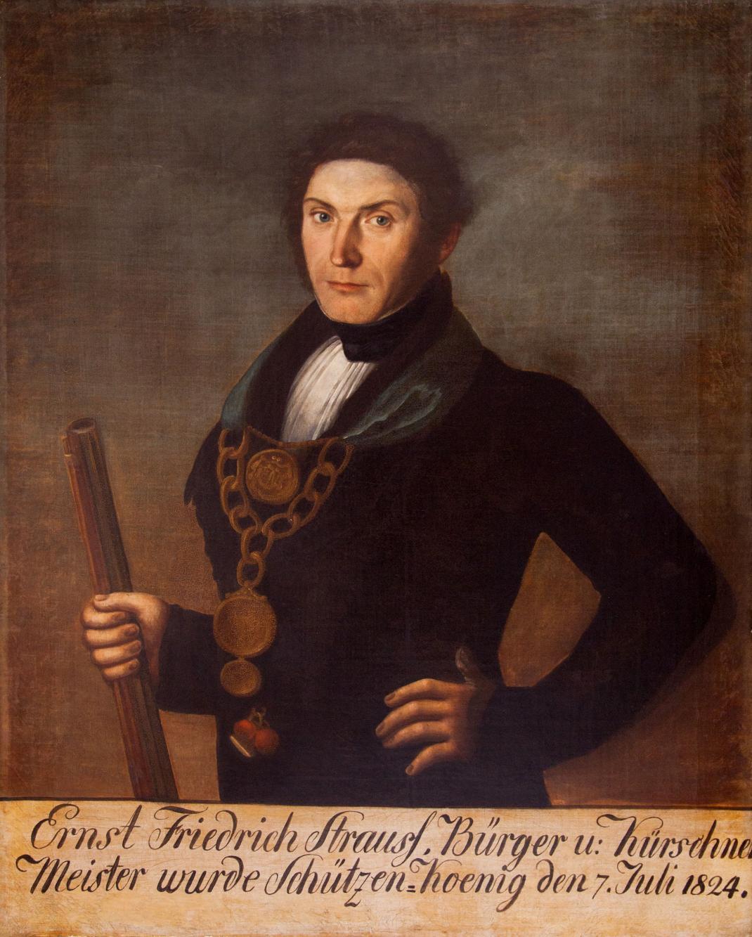 Portret króla kurkowego Ernsta Friedricha Straussa