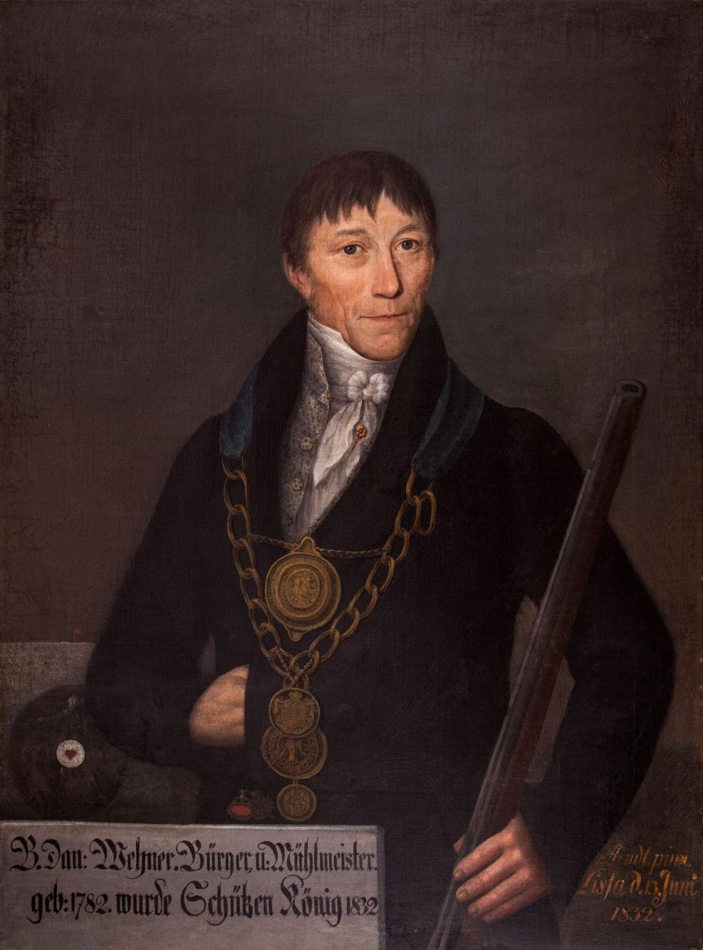 Portret króla kurkowego B. Dan. Wehnera