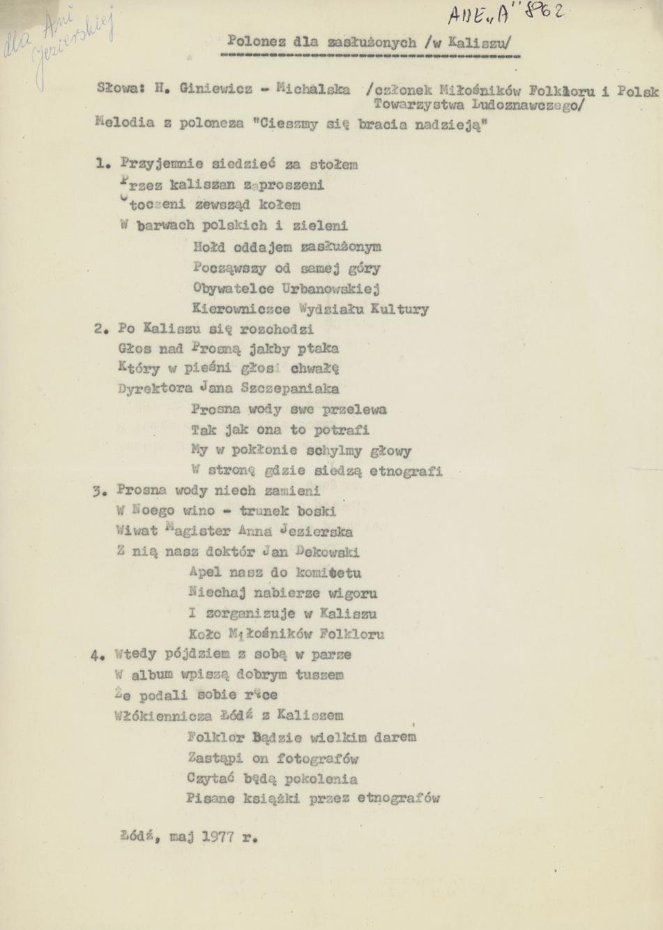 Polonez dla zasłużonych (w Kaliszu)