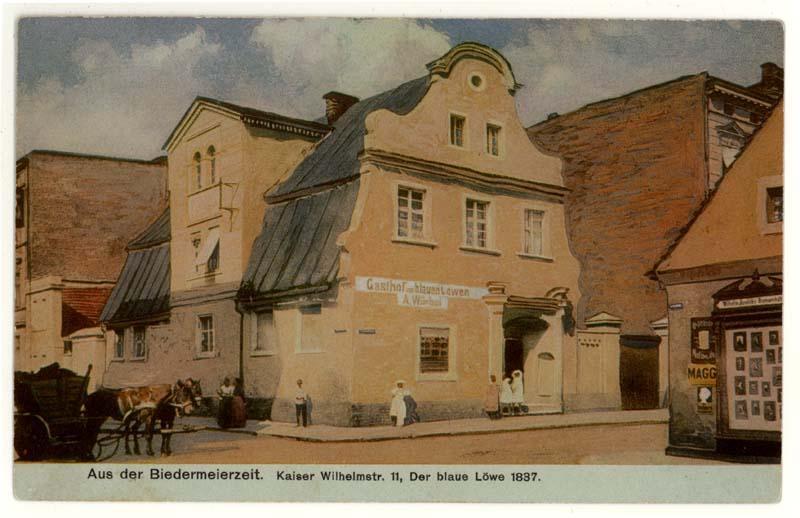 Ulica Słowiańska w Lesznie - Kamienica pod Błękitnym Lwem