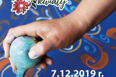 """Wystawa na zakończenie projektu """"Malowane kwiaty"""""""