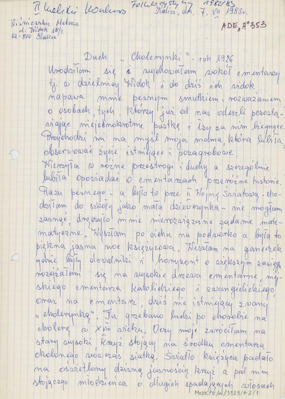 """Duch """"cholerynki"""" - rok 1926"""